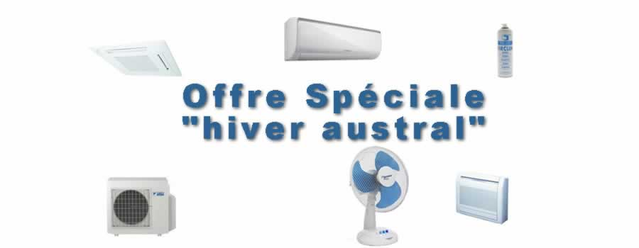 Offre speciale « hiver austral »